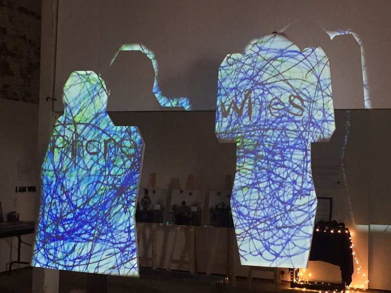 Projections onto 2D human figures.